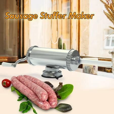 Jaxpety Sausage Stuffer Maker Aluminium Alloy Meat Filler Machine Commercial Kitchen ()