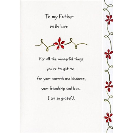 Recycled Paper Greetings To My Father Father's Day Card - Fathers Day Card Print Out