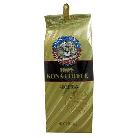 Hawaii Lion Kona Coffee 7 Oz  Bean 100  Pure Kona