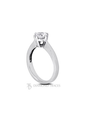 0.38ct J-SI2 Ideal Round Certified Diamond 14k Gold Classic Solitaire Ring 1.9mm