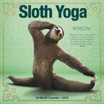 Sloth Yoga 2019 Wall Calendar (Other)
