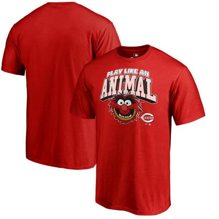 Muppet Animal T Shirt (Cincinnati Reds Fanatics Branded Disney Muppets Play Like an Animal T-Shirt -)
