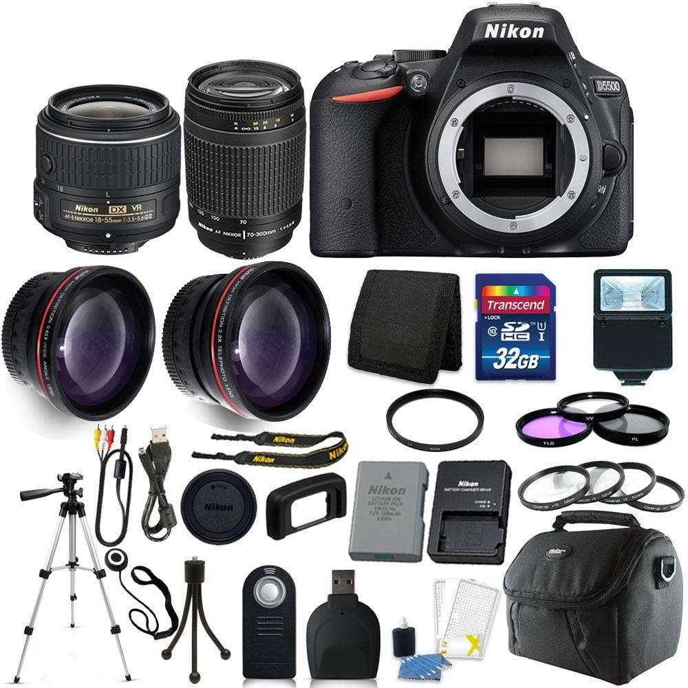 Nikon D5500 DSLR Camera with 18-55 VR II + 70-300mm Lens + 32GB