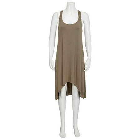 Heidi Klein Ladies Olive Lamu Twist-Back Tank Dress Twist Tank Dress