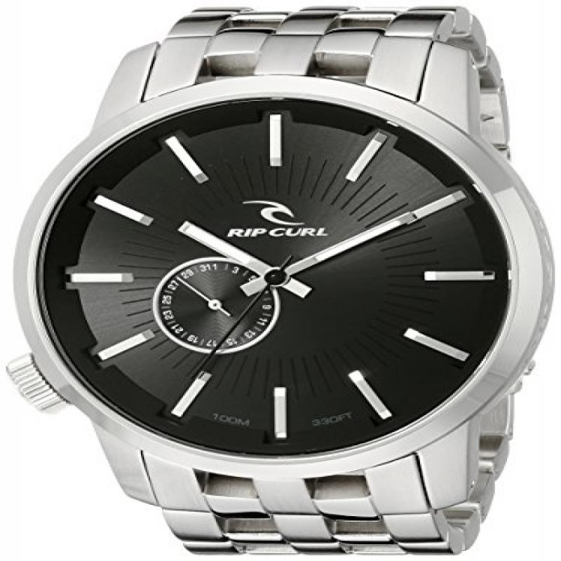 Rip Curl Men's A2227-BLK Detroit Stainless Steel and Blac...