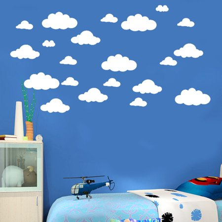 Cloud Wall Decals - Mosunx 31pcs DIY Large Clouds Wall Decals Children's Room Home Decoration Art