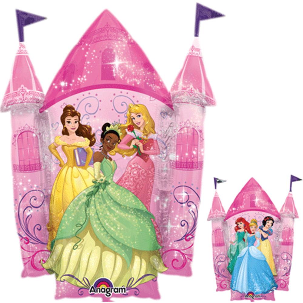 "Disney Princess Castle Character Super Shape Foil Balloon 35"""