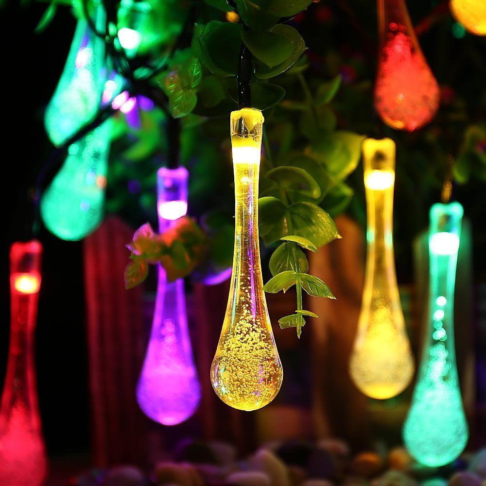 QederTEK Landscape Solar String Lights LED Lighting Waterproof 40 LED 8 Modes Light for Garden,Party,Dinner,Bedroom,Patio,Yard, Christmas Decors(Multicolor)