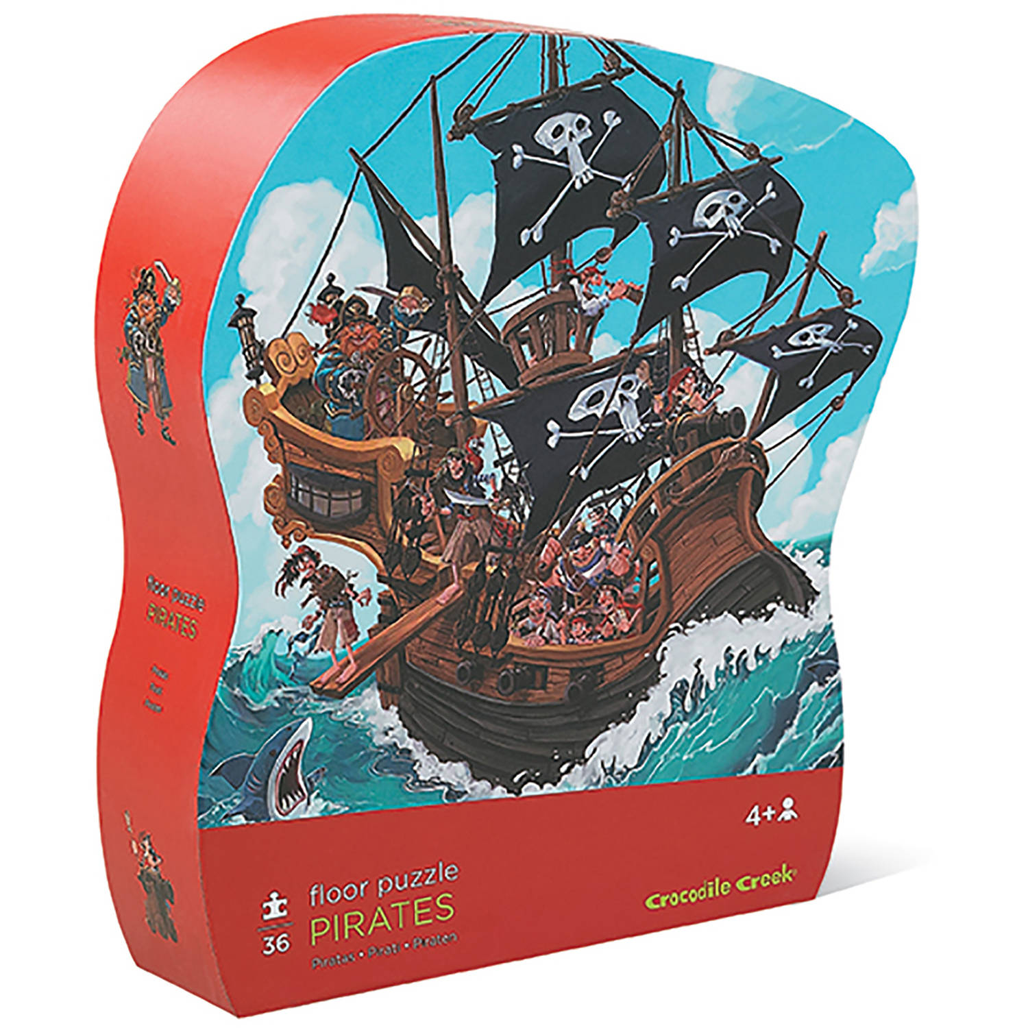 Crocodile Creek Pirates 36-Piece Floor Jigsaw Puzzle