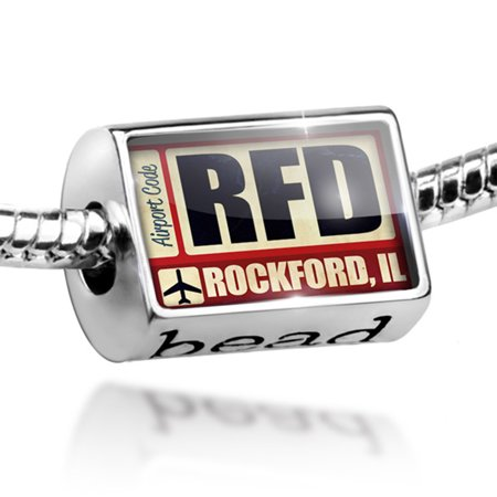 Bead Airportcode RFD Rockford, IL Charm Fits All European Bracelets (Party City Rockford Il)