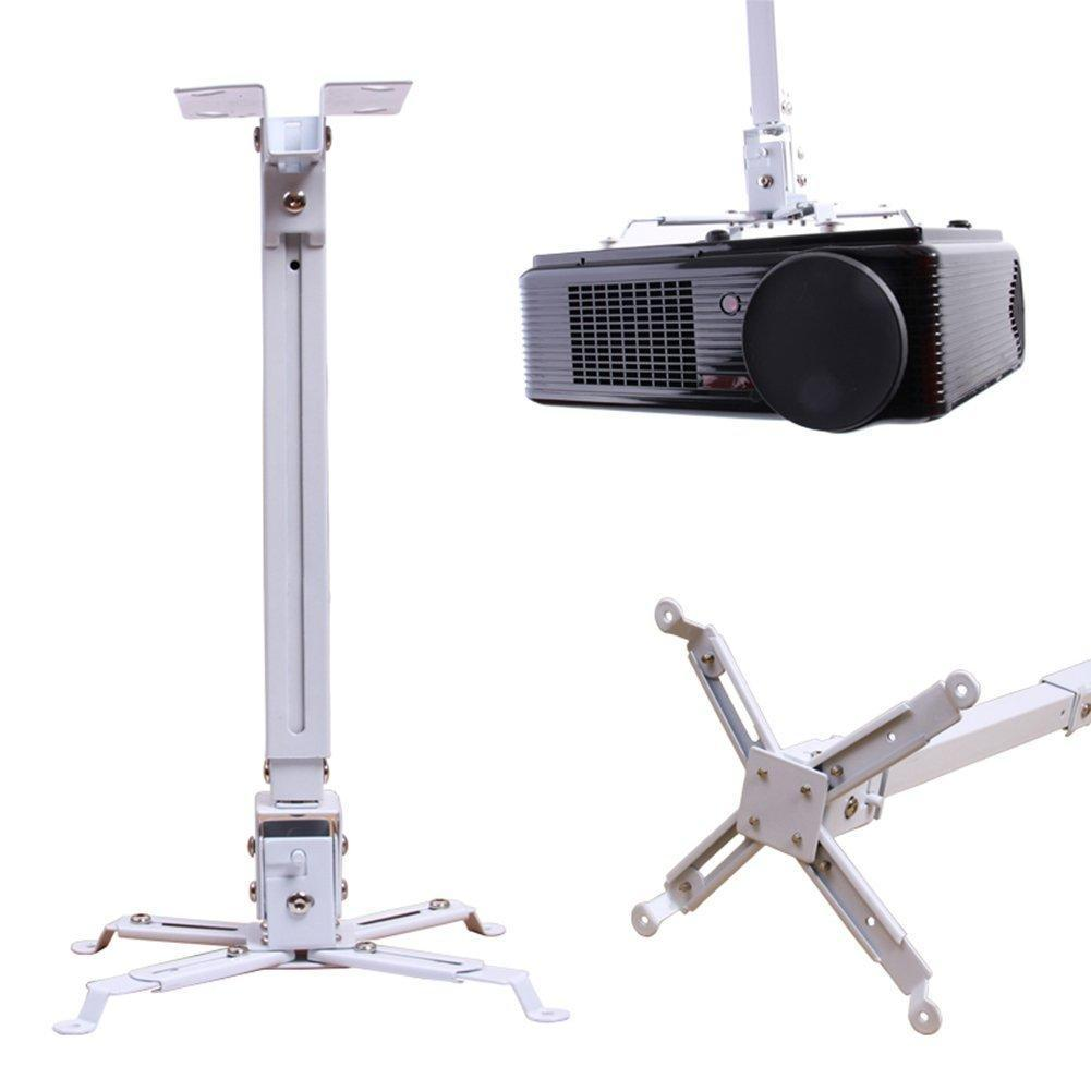 44lbs Extendable Universal Projector Ceiling Wall Mount Rack Bracket LCD DLP Tilt White BLLK