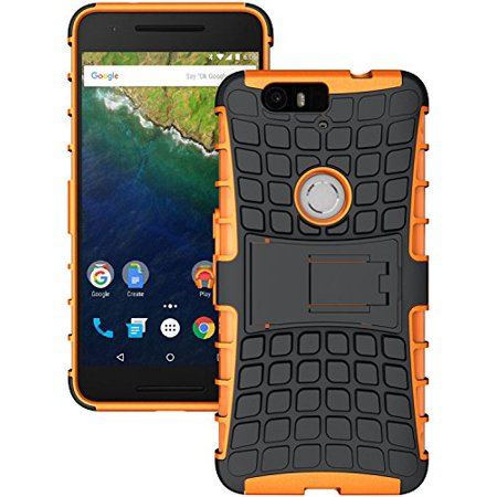 the latest 050ab 405e3 NEXUS 6P CASE, 'S NEON ORANGE GRENADE GRIP TPU SKIN CASE COVER STAND FOR  HUAWEI GOOGLE NEXUS 6P PHONE (H1511, H1512), Rugged Protective Case with ...