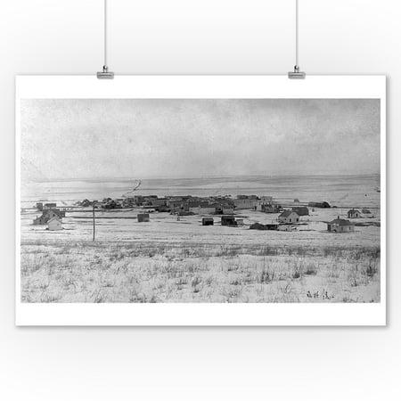 Winner, South Dakota - View of Town (9x12 Art Print, Wall Decor Travel