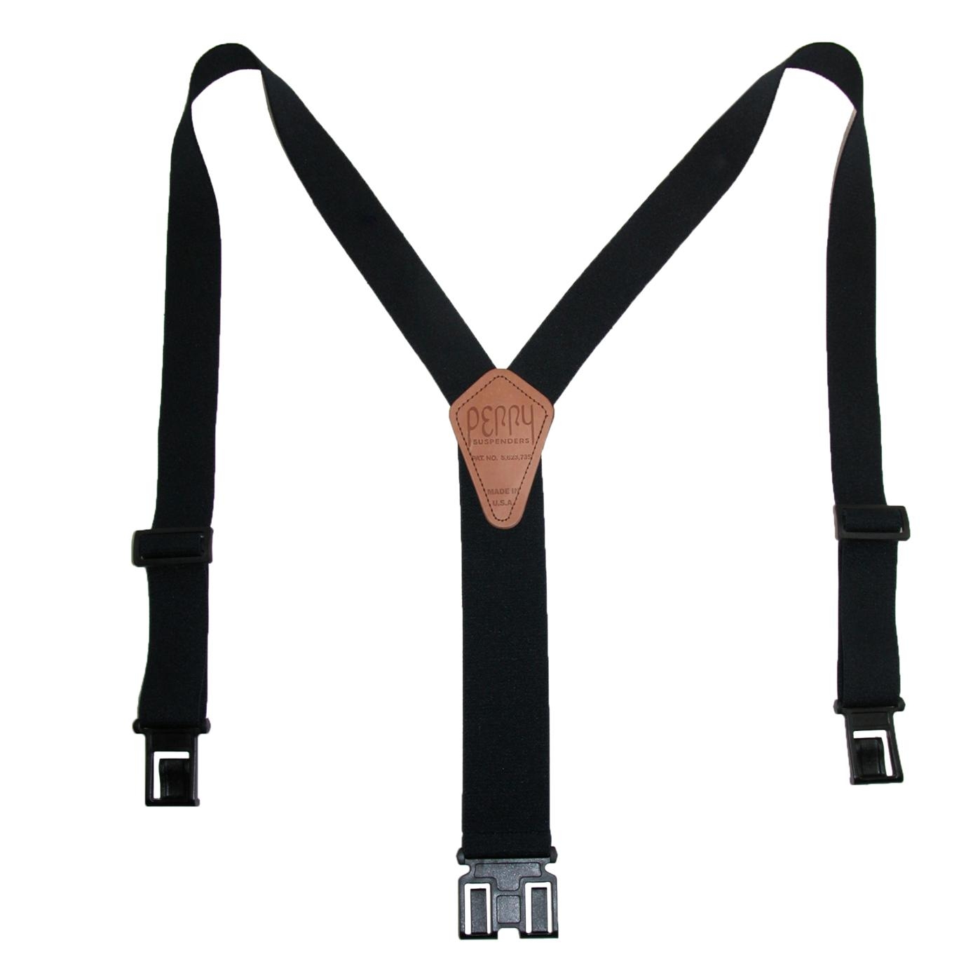 Perry Suspenders Men's Elastic Hook End Suspenders