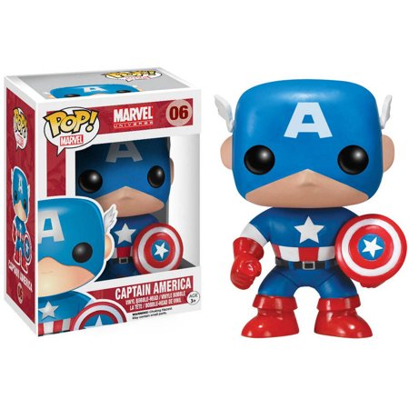 Funko Pop  Marvel Captain America Vinyl Bobble Head Figure