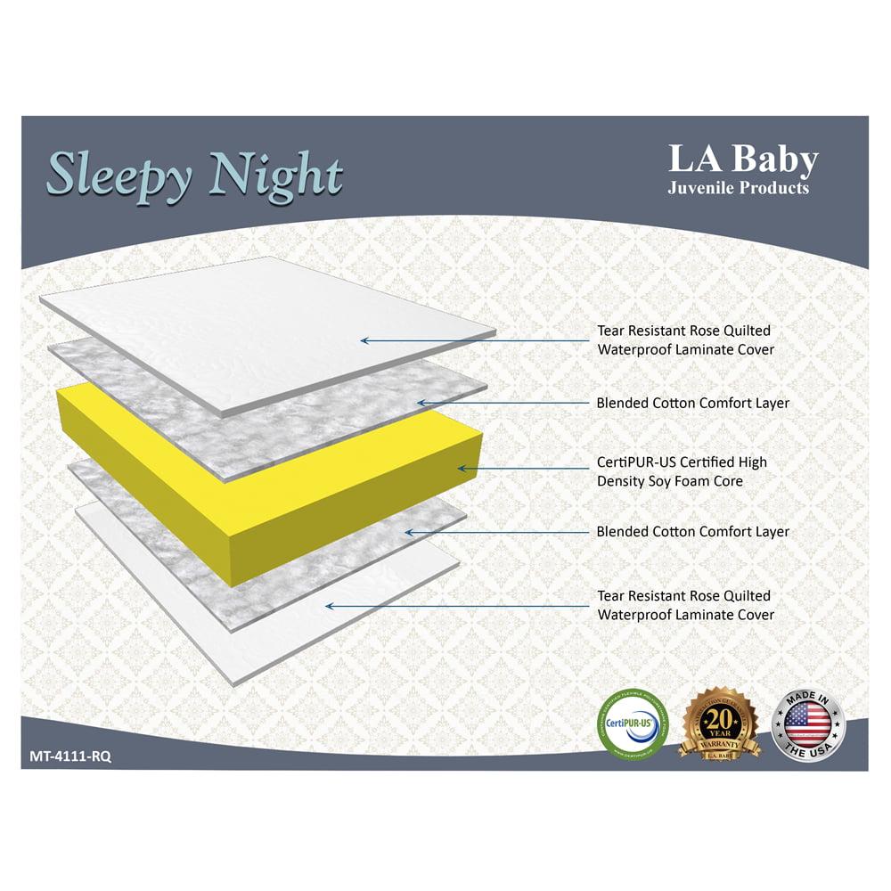 LA Baby Sleepy Night Crib Mattress, White by L.A. Baby