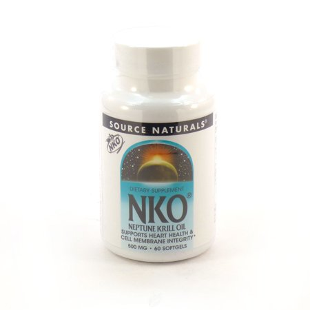 Source Naturals, NKO, Neptune Krill Oil, 500 mg, 60 Softgels, Pack of 2
