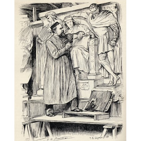 - Armstead At Work Henry Hugh Armstead 1828  1905 English Sculptor And Illustrator Engraving After A Drawing By T Blake Wirgman From The Book The Century Illustrated Monthly Magazine May To October 1883