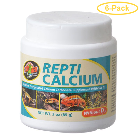 Zoo Med Repti Calcium Without D3 3 oz - Pack of 6 ()