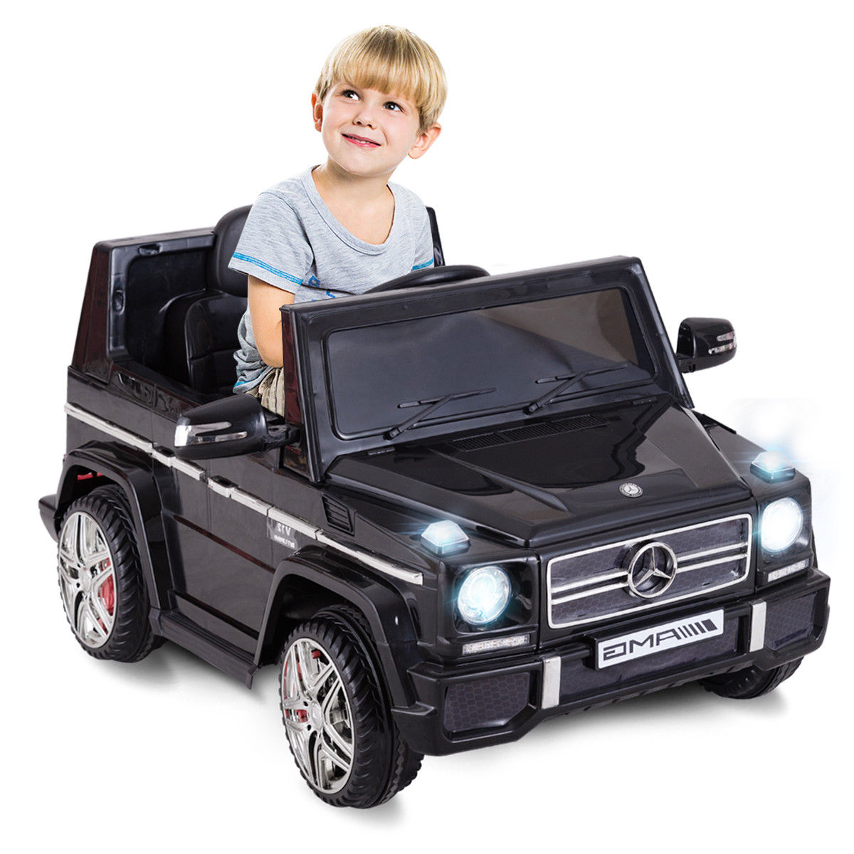 Costway Mercedes Benz G65 Licensed 12V Electric Kids Ride On Car RC Remote Control Black