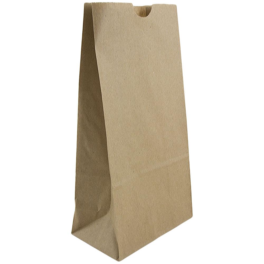 "JAM Lunch Bags, Medium, 5"" x 9 3/4"" x 3"", Brown Kraft 100..."