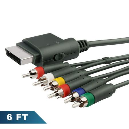 Insten Premium Component HD AV Cable For Microsoft Xbox 360 / Xbox 360