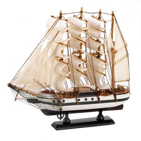 Pirate Ship Model, Model Ship Wooden Sailing Passat Ship Model Assembled - Wooden Pirate Ship