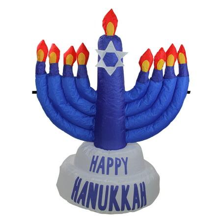 3.5' Inflatable Blue Menorah Hanukkah Outdoor - Inflatable Menorah