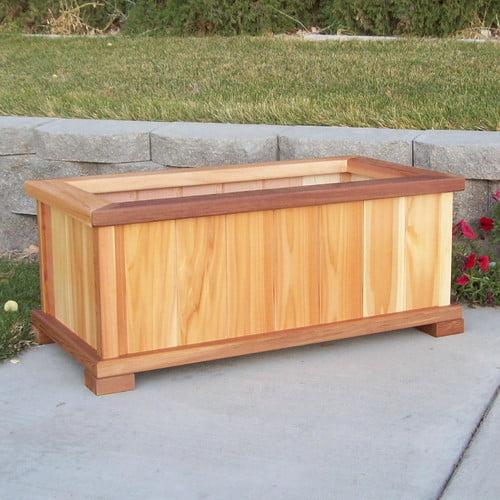 Wood Country Rectangular Planter Box