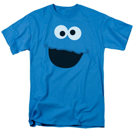 Cookie Monster Shirts For Adults (Sesame Street - Cookie Monster Face - Short Sleeve Shirt -)