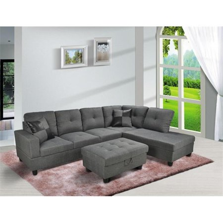 Astonishing Lifestyle Furniture Lf108B Siano Right Hand Facing Sectional Sofa Grey 35 X 103 5 X 74 5 Inch Ibusinesslaw Wood Chair Design Ideas Ibusinesslaworg