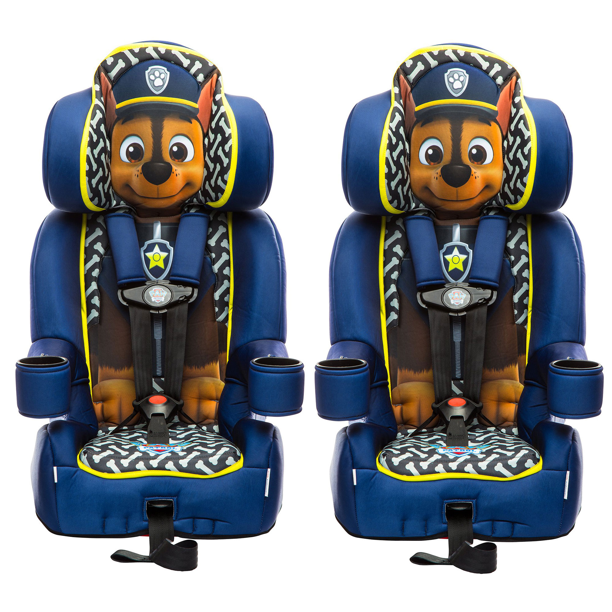 KidsEmbrace Nickelodeon Paw Patrol Chase Harness Booster Car Seat (2 Pack)