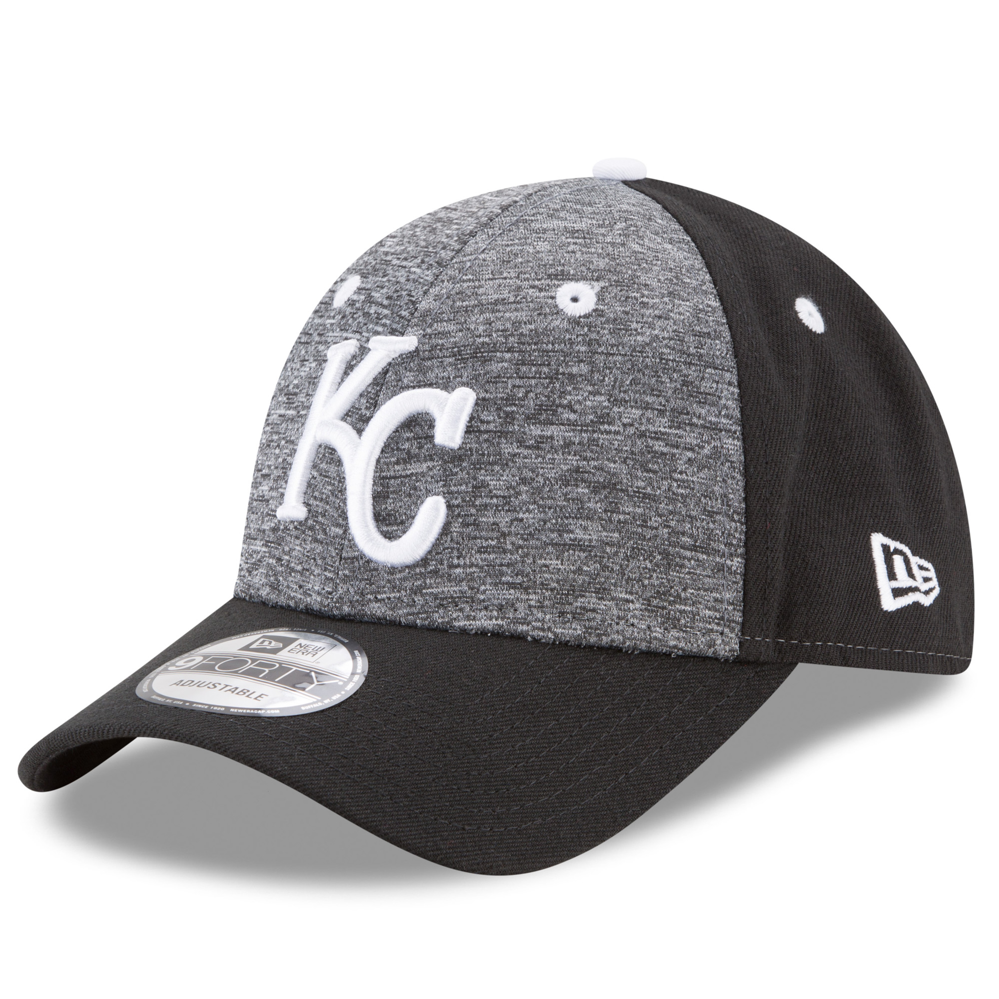Kansas City Royals New Era The League Shadow 2 9FORTY Adjustable Hat - Heathered Gray/Black - OSFA