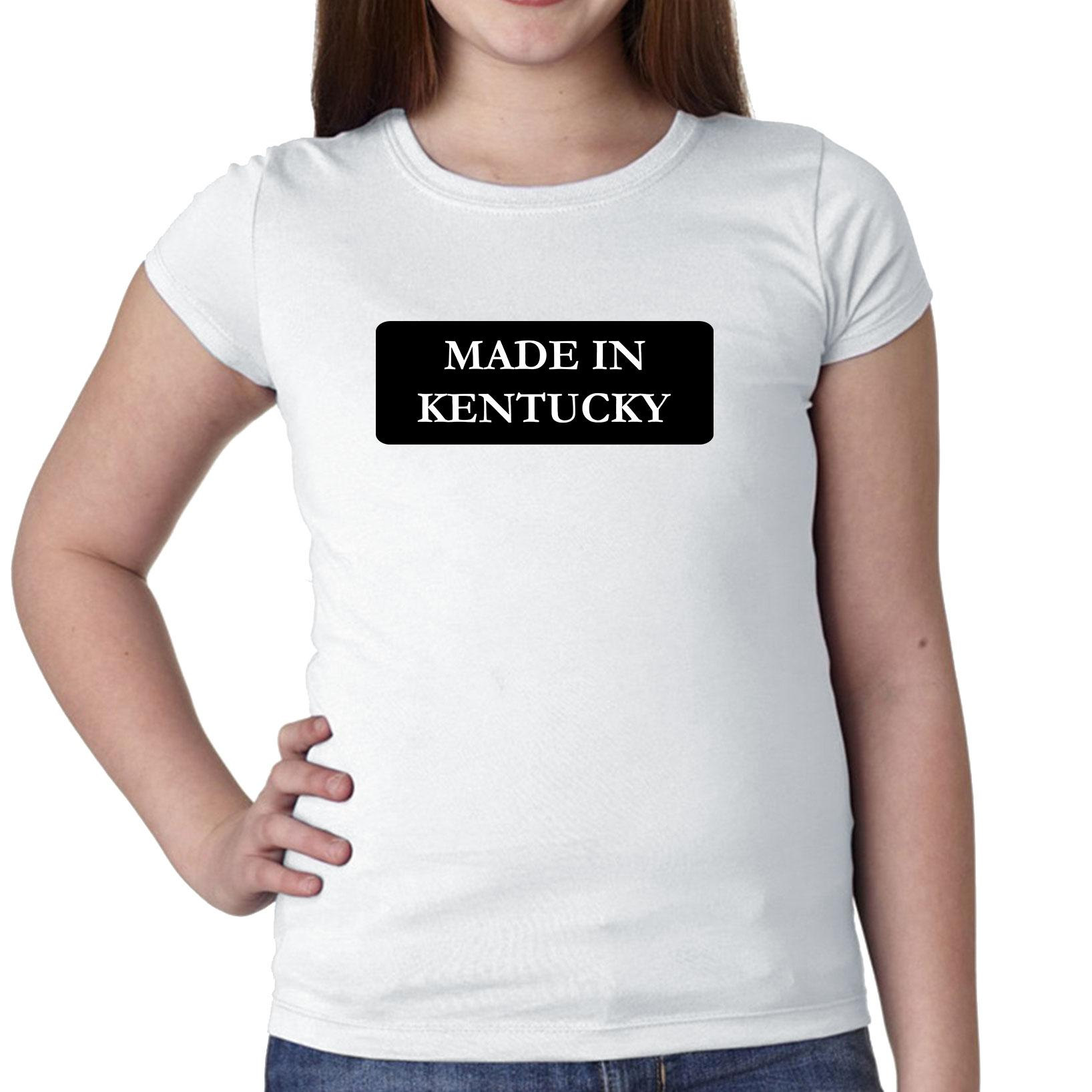 Hip Made In Kentucky State Pride Girl's Cotton Youth T-Shirt