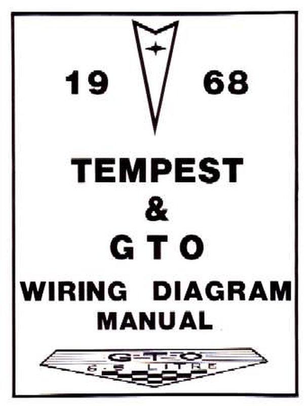 Bishko Oem Repair Maintenance Wiring Schematics Bound For Pontiac Gto  Lemans  Tempest 1968