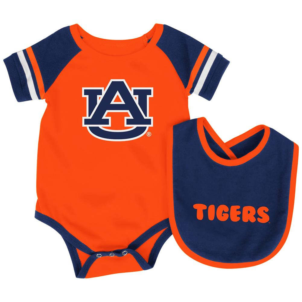 Auburn University Tigers Baby Bodysuit and Bib Set Infant Jersey by Colosseum