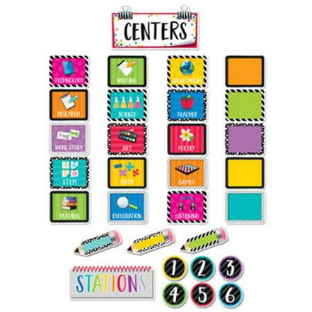 Bold & Bright Classroom Centers Mini Bulletin Board](Classroom Halloween Bulletin Board Ideas)