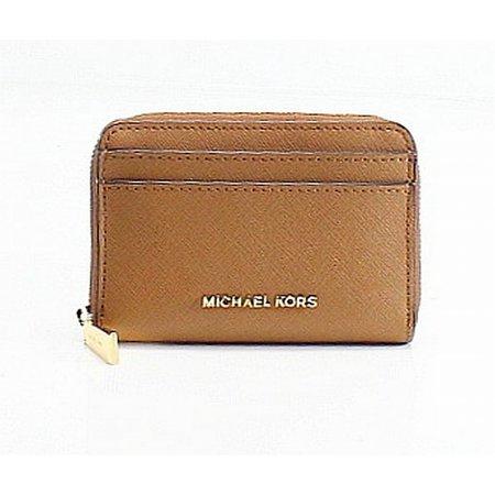 29216447630e Michael Kors - Michael Kors NEW Brown Acorn Saffiano Zip Around Cardholder  Coin Wallet - Walmart.com