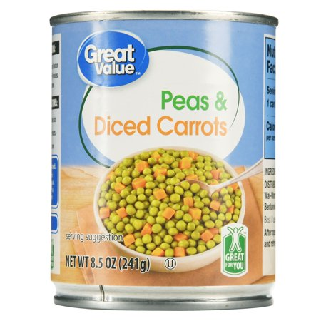 Peas & Carrots ((3 Pack) Great Value Peas & Carrots, 8.5)