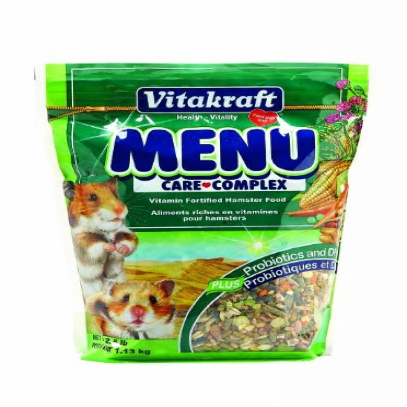 Vitakraft Menu Vitamin Fortified Hamster Food, 2.5 lb. by Vitakraft