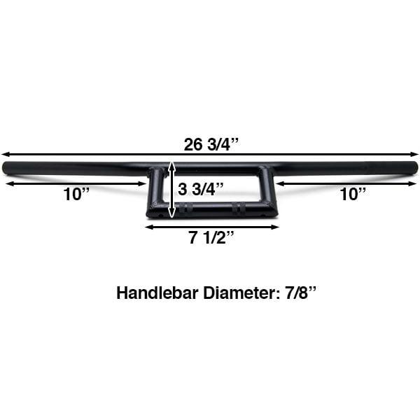 "Motorcycle Handlebar 7/8"" Black Bars Window Style For Honda CB 125 350 400 450 650 750 900 Super Sport - image 4 de 5"