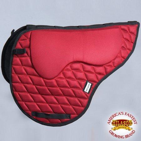 Ta211A- Hilason English Memory Foam Saddle Pad With Anti-Slip - Red