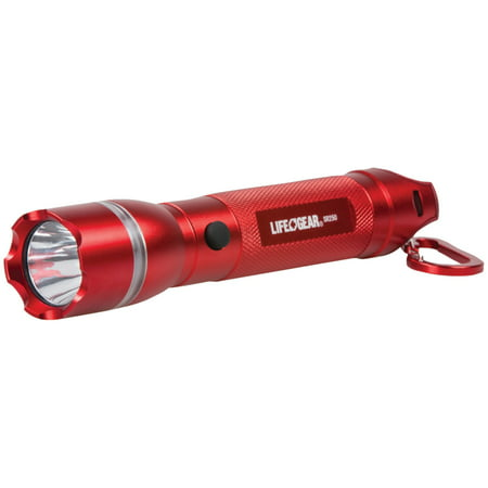 Life+Gear AA35-60538-RED 250-Lumen Searchlight with Emergency Beacon - Red Police Beacon