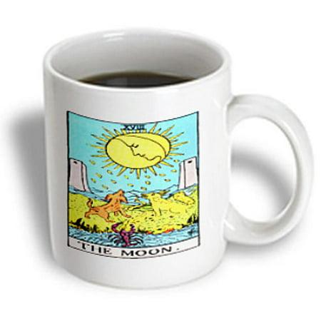 3dRose Tarot The moon Card, Ceramic Mug, 15-ounce