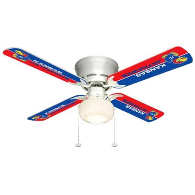 Ceiling Fan Designers 7999-KAN New NCAA KANSAS JAYHAWKS 42 in. Ceiling Fan