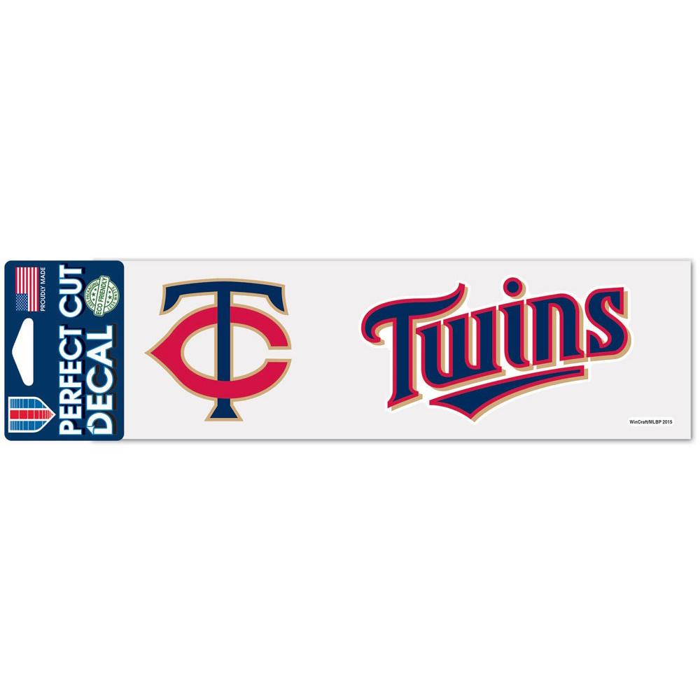 "Minnesota Twins WinCraft 3"" x 10"" Logo & Name Perfect Cut Decal - No Size"