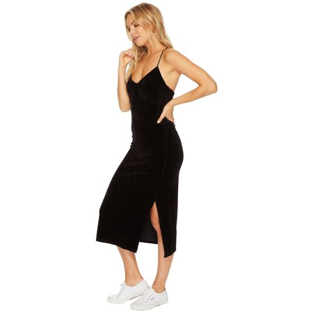 Juicy Couture Velour Suit (JUICY COUTURE BLACK LABEL Women's Velour Slip Dress, Pitch Black)