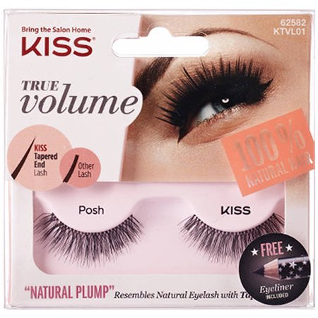Kiss True Volume Natural Plump Eyelashes, Posh (Bat Eyelashes)