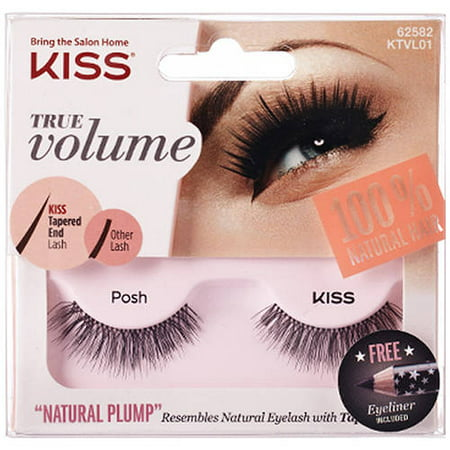 Kiss True Volume Natural Plump Eyelashes, Posh - Feather Fake Eyelashes
