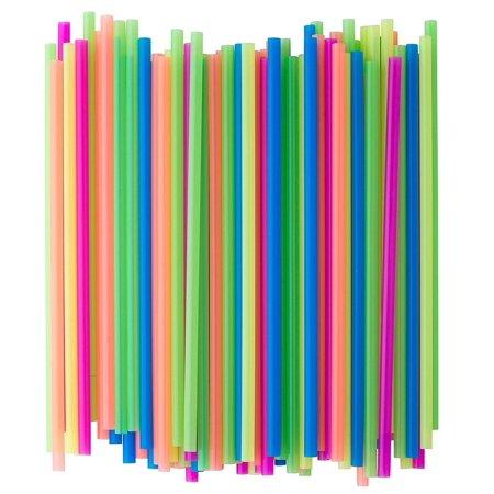 Neon Colored Plastic Drinking Straws (200) (Colored Straws)